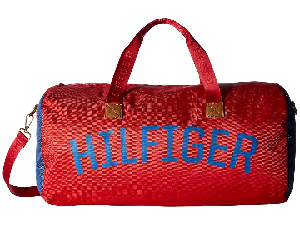 Tommy Hilfiger Zachary Duffel Nylon (Mars Red) Duffel Bags