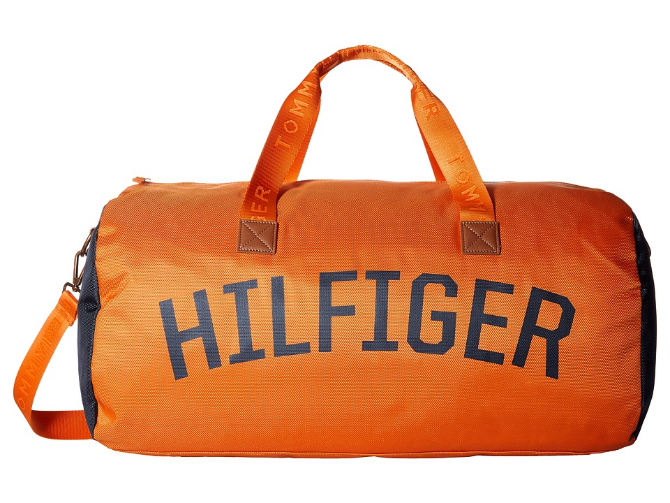 Tommy Hilfiger Zachary Duffel Nylon (Orange Pepper) Duffel Bags