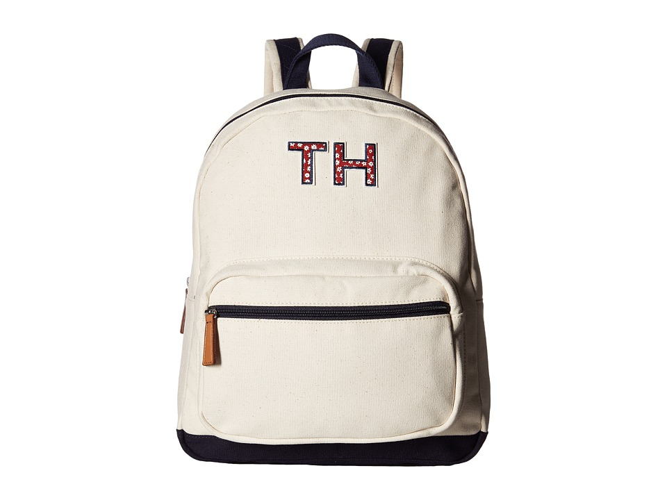 Tommy Hilfiger - Pam Dome Backpack TH (Natural/Navy) Backpack Bags