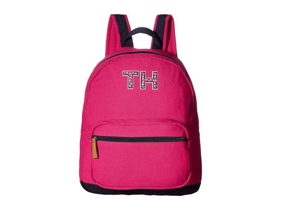 Tommy Hilfiger Pam Dome Backpack TH (Bright Rose/Navy) Backpack Bags