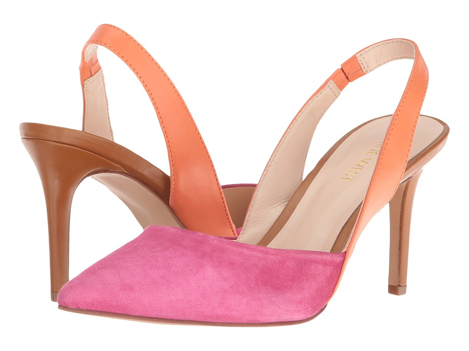 Nine West - Rollover (Dark Pink/Orange Suede) High Heels