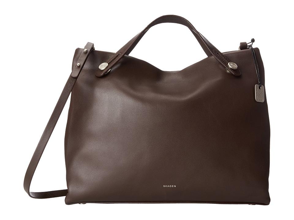 Skagen - Mikkeline Satchel (Espresso) Satchel Handbags