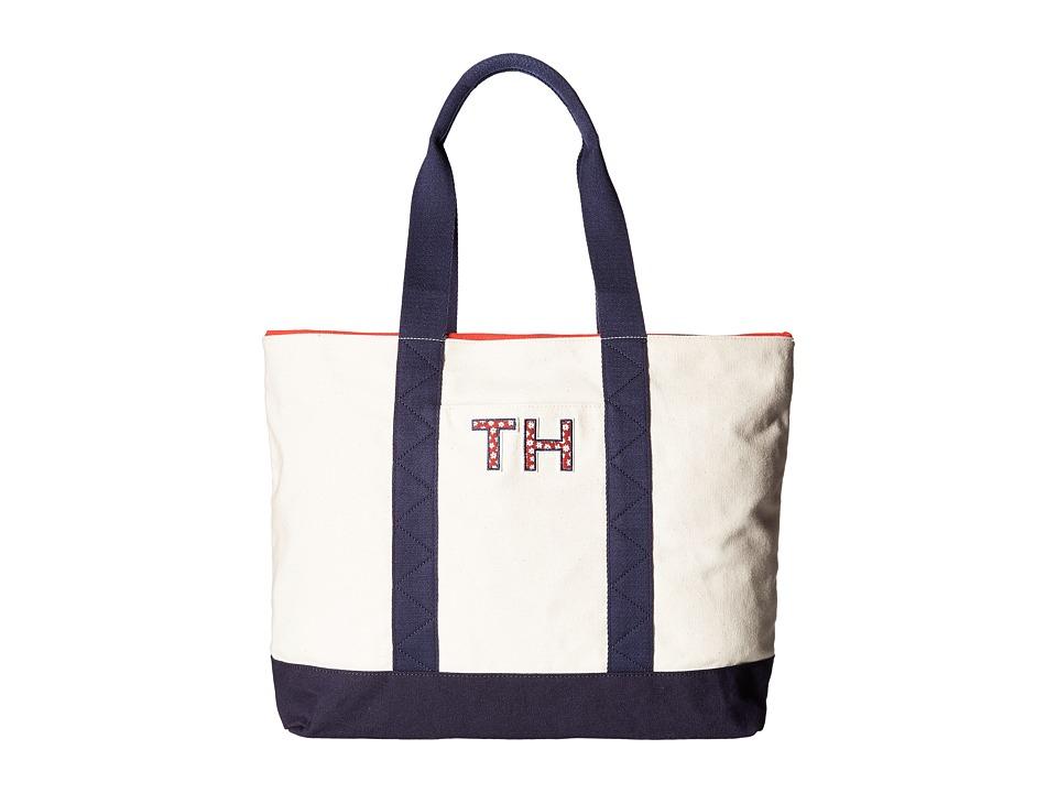 Tommy Hilfiger - Pam Tote TH (Natural/Navy) Tote Handbags