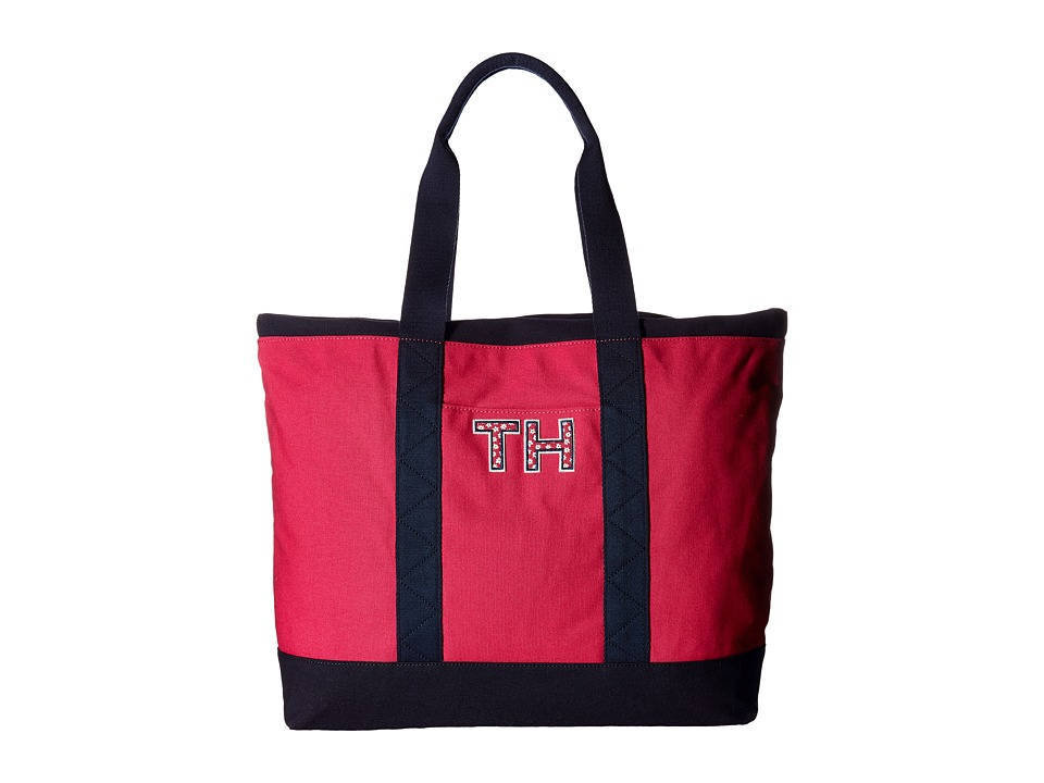 Tommy Hilfiger - Pam Tote TH (Bright Rose/Navy) Tote Handbags