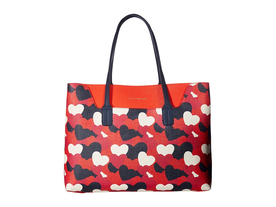 Tommy Hilfiger - Adamaria Tote Double Sided (Bright Rose/Multi) Tote Handbags