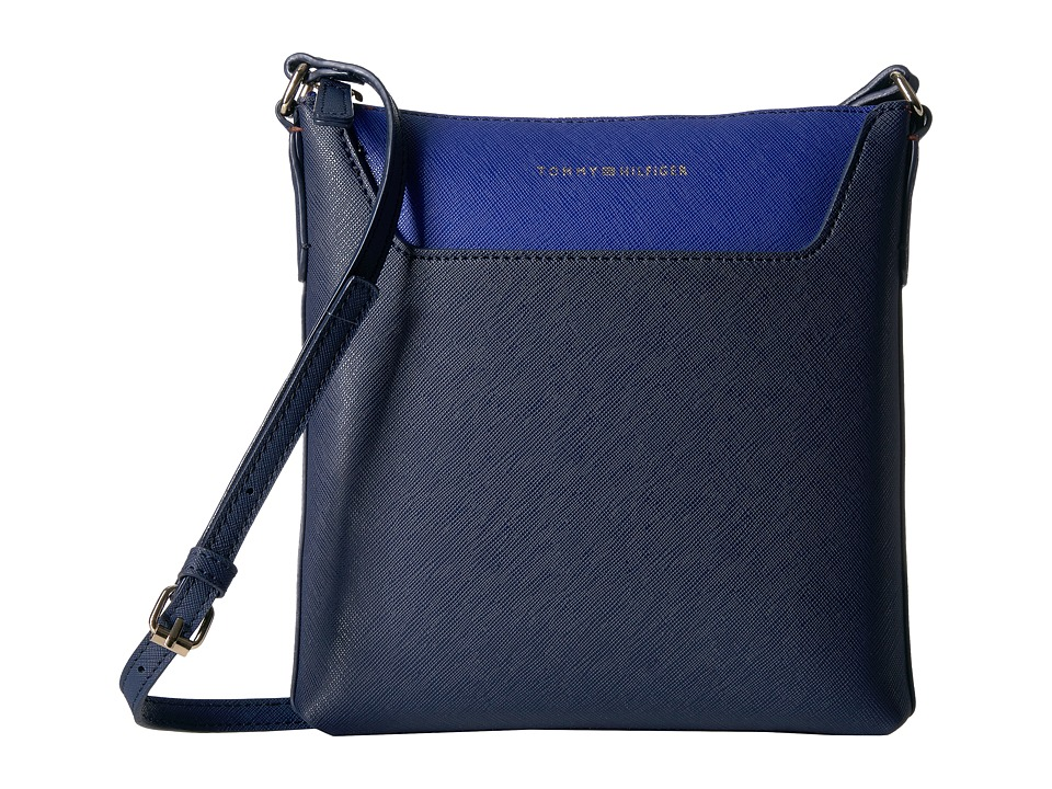 Tommy Hilfiger - Adamaria North/South Crossbody Double Sided (Tommy Navy/Cobalt) Cross Body Handbags