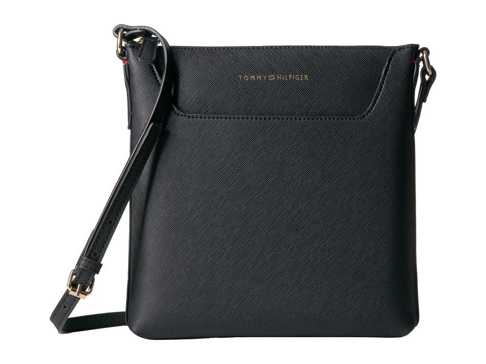 Tommy Hilfiger - Adamaria North/South Crossbody Double Sided (Black) Cross Body Handbags