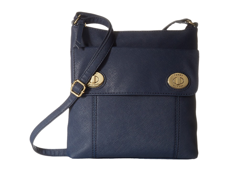 Tommy Hilfiger - Polly II North/South Crossbody Saffiano (Tommy Navy) Cross Body Handbags