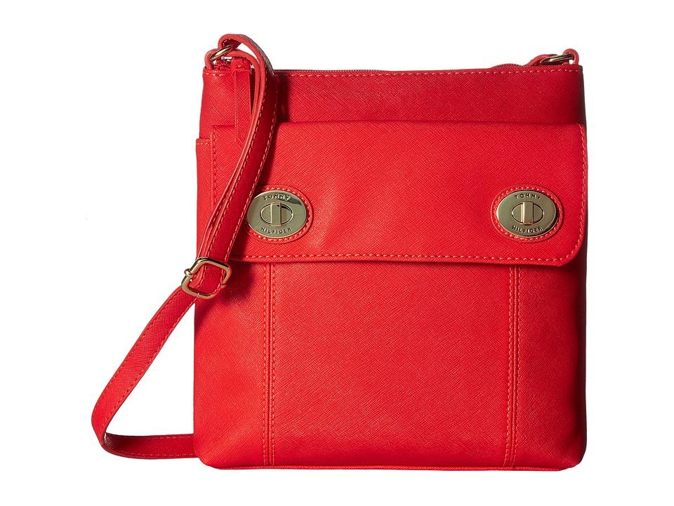 Tommy Hilfiger - Polly II North/South Crossbody Saffiano (Fiery Red) Cross Body Handbags