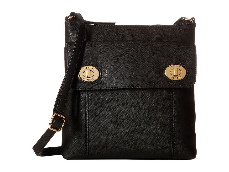 Tommy Hilfiger - Polly II North/South Crossbody Saffiano (Black) Cross Body Handbags