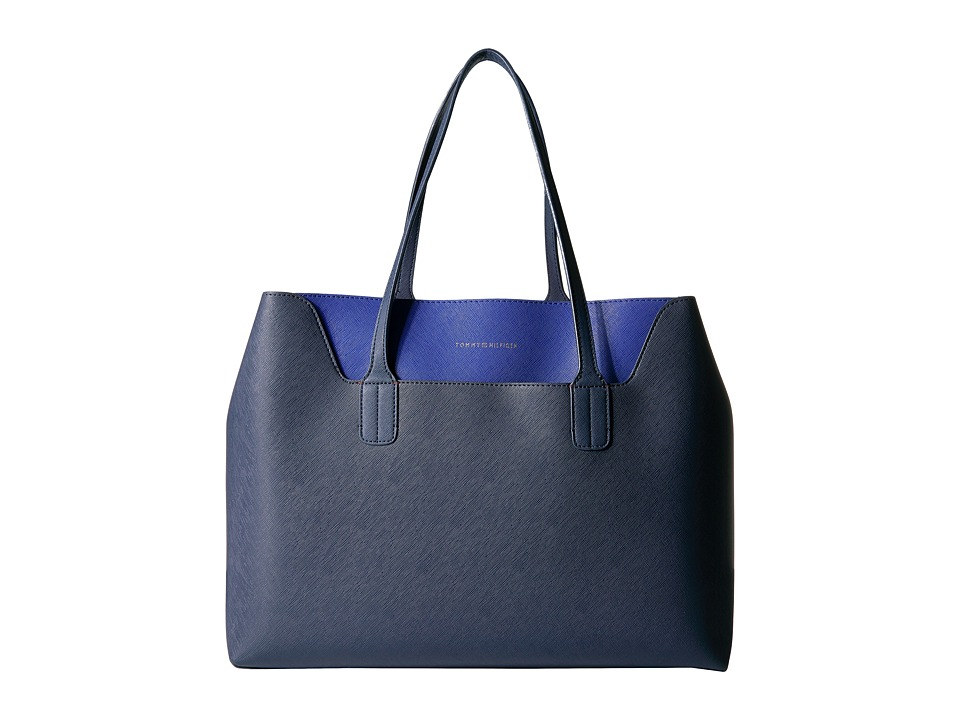Tommy Hilfiger - Adamaria Tote Double Sided (Tommy Navy/Cobalt) Tote Handbags