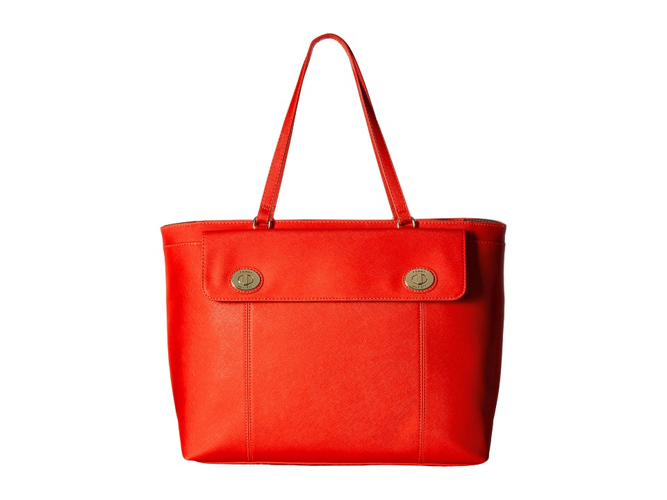 Tommy Hilfiger - Polly II Tote Saffiano (Fiery Red) Tote Handbags