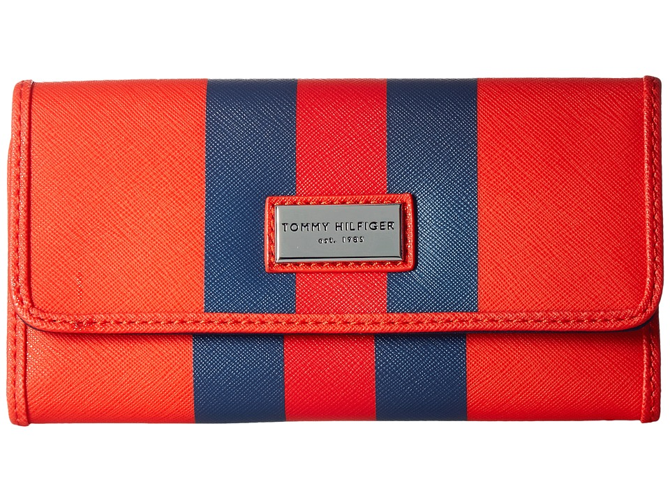 Tommy Hilfiger - Prep Club Continental Wallet II (Fiery Red) Wallet Handbags