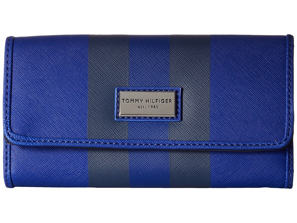 Tommy Hilfiger - Prep Club Continental Wallet II (Cobalt) Wallet Handbags