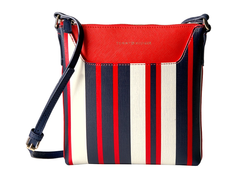 Tommy Hilfiger - Adamaria North/South Crossbody Double Sided (Navy/Multi) Cross Body Handbags