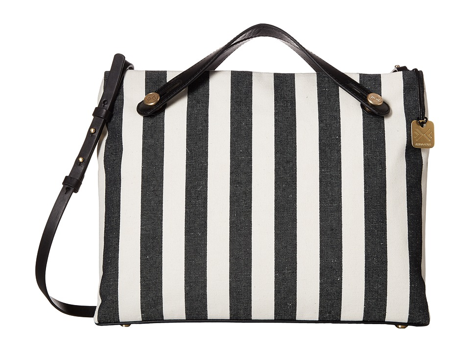 Skagen - Mikkeline Satchel (Black Stripe) Satchel Handbags