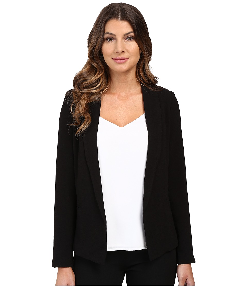 XOXO - Shawl Lapel Boyfriend Blazer (Black) Women's Jacket