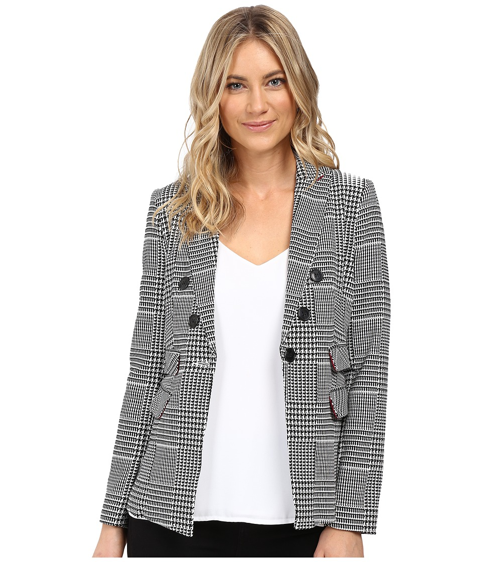 XOXO - Houndstooth Blazer (Black/Ivory) Women's Jacket