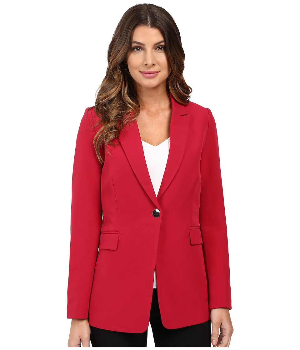 XOXO - Single Button Long Blazer (Cranberry) Women's Jacket