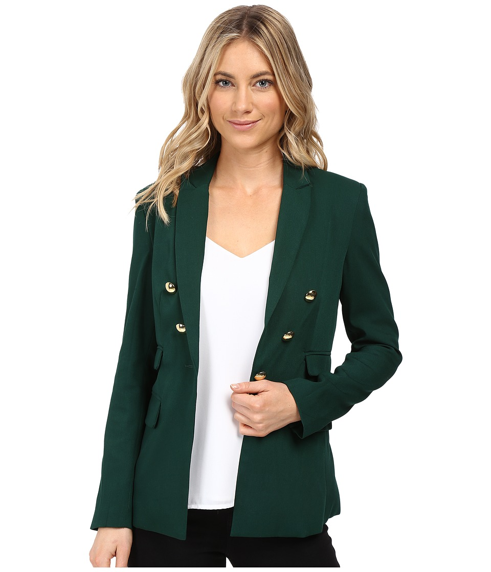 XOXO - V-Button Blazer (Hunter) Women's Jacket