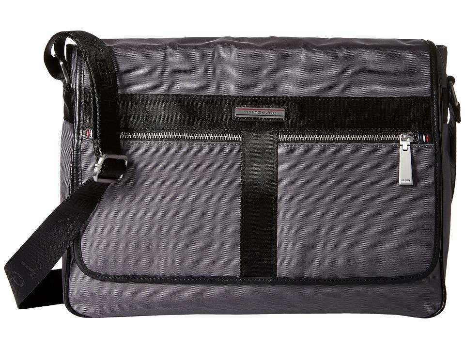 Tommy Hilfiger - Darren Flap Messenger Codura Nylon (Anthracite) Messenger Bags