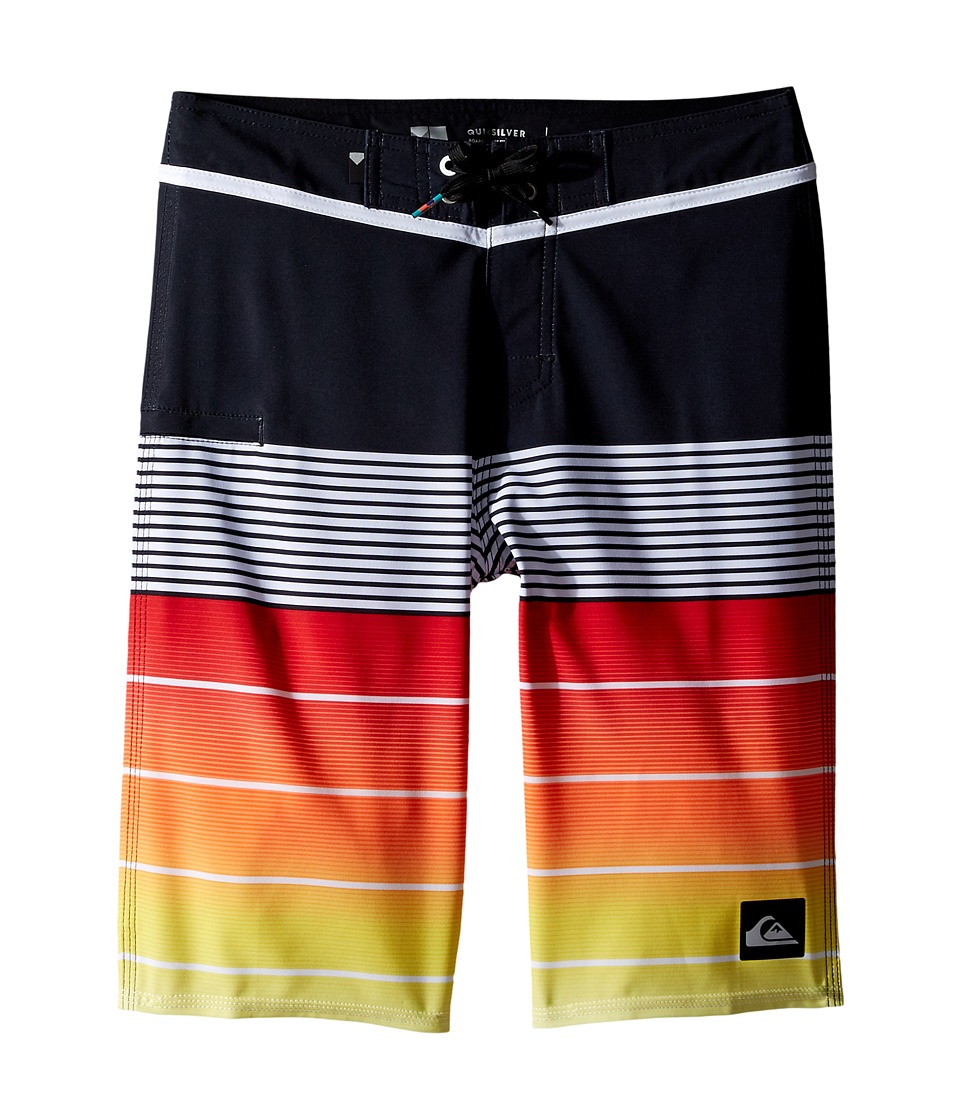 Quiksilver Kids - Division Vee 19 Boardshorts (Big Kids) (Quik Red) Boy's Swimwear