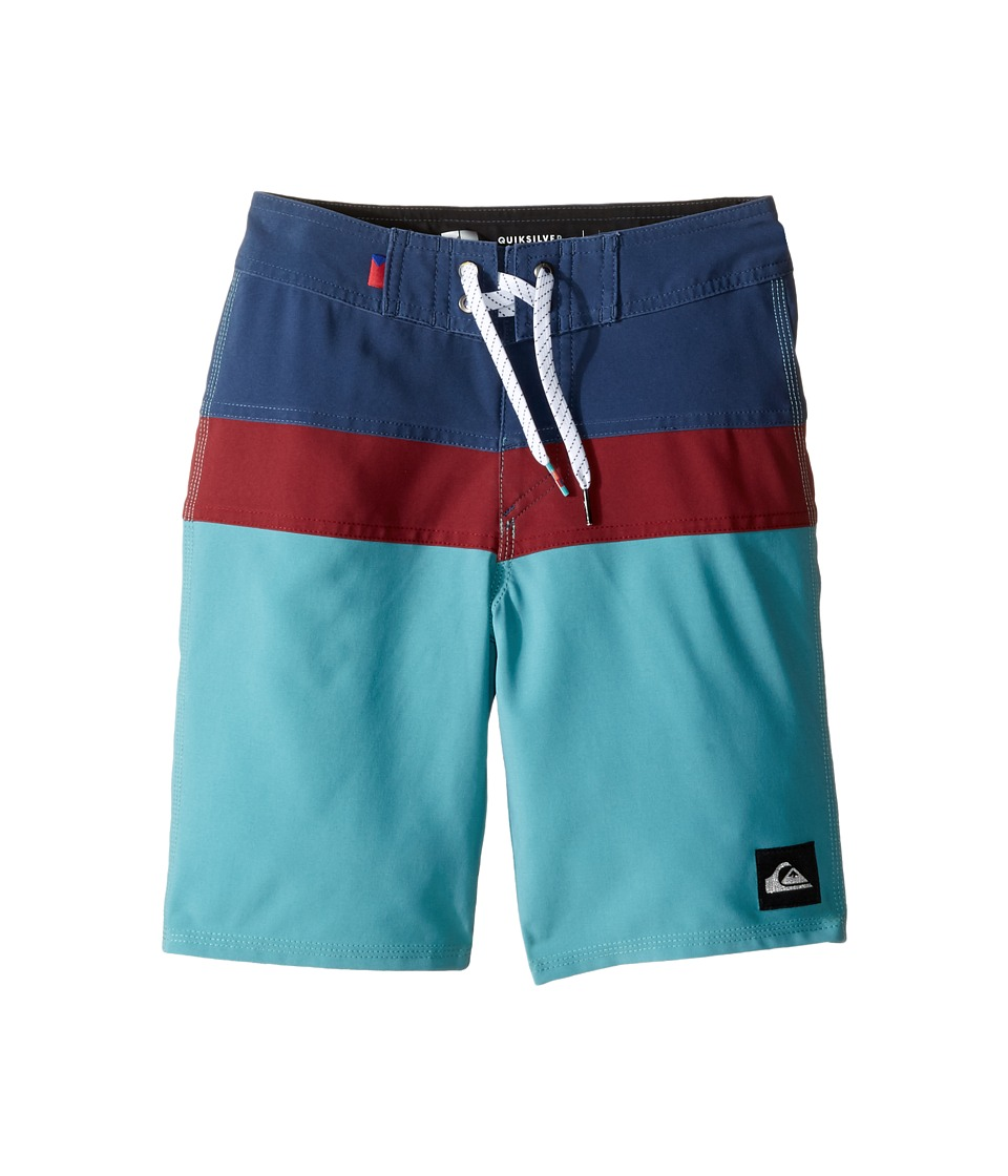 Quiksilver Kids - The Panel Vee 17 Boardshorts (Big Kids) (Meadowbrook) Boy's Swimwear