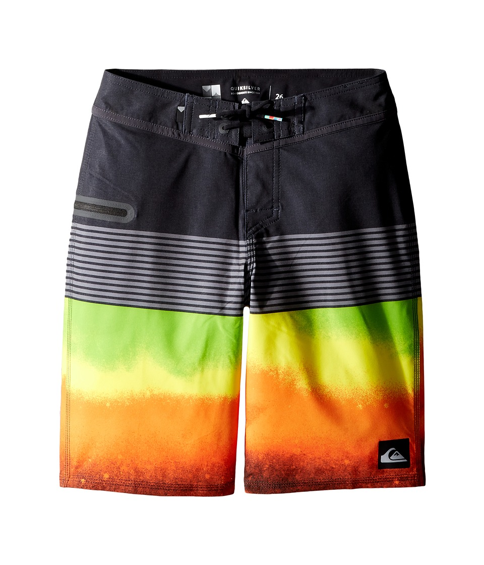 Quiksilver Kids - Division Remix Vee 18 Boardshorts (Big Kids) (Shocking Orange) Boy's Swimwear