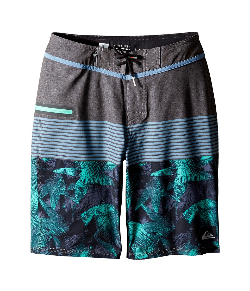 Quiksilver Kids - Division Remix Vee 18 Boardshorts (Big Kids) (Tarmac) Boy's Swimwear