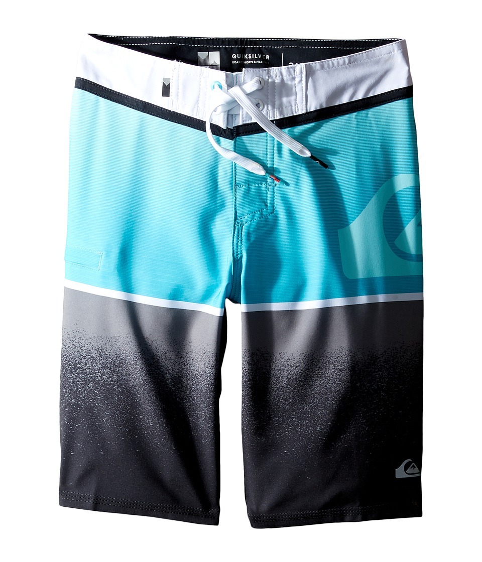 Quiksilver Kids - Division Logo Vee 18 Boardshorts (Big Kids) (Scuba Blue) Boy's Swimwear