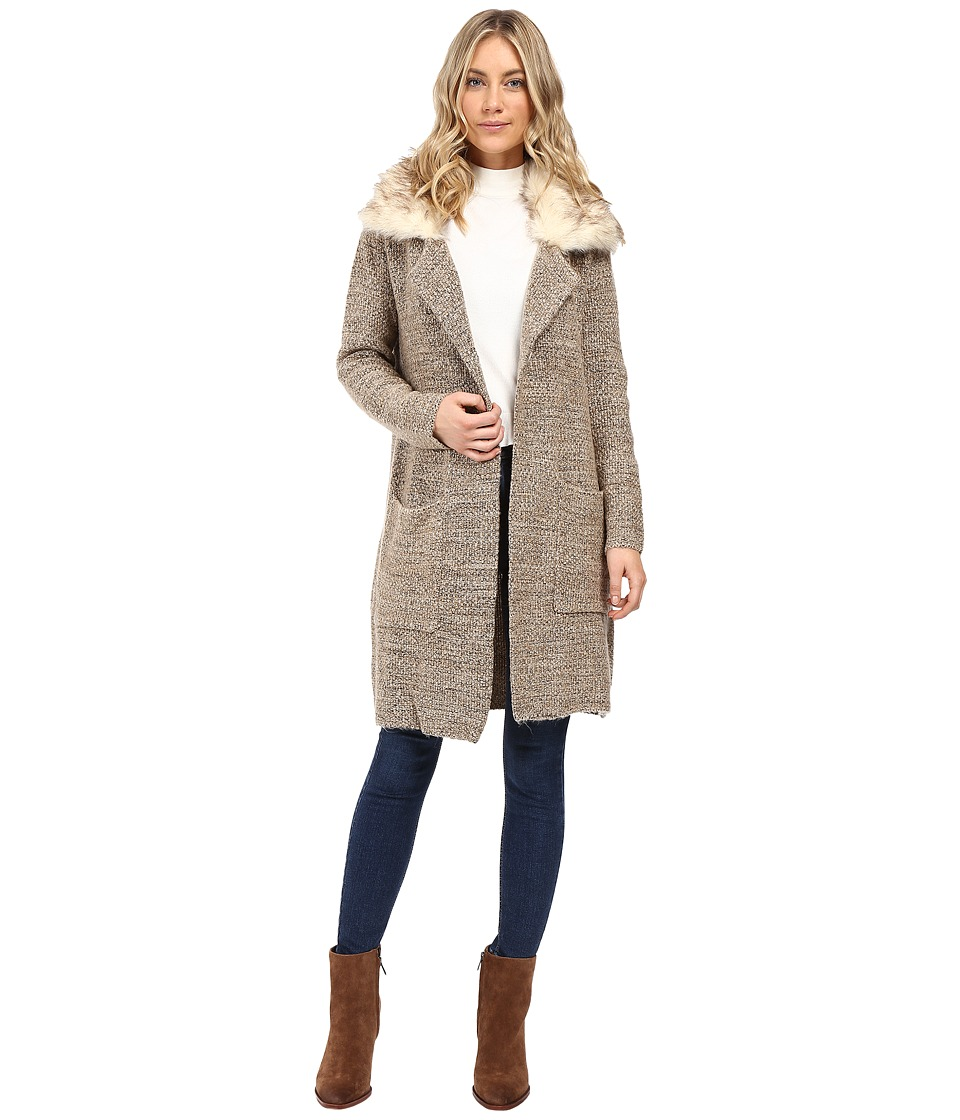 XOXO - Button Front Sweater Coat (Oatmeal) Women's Sweater