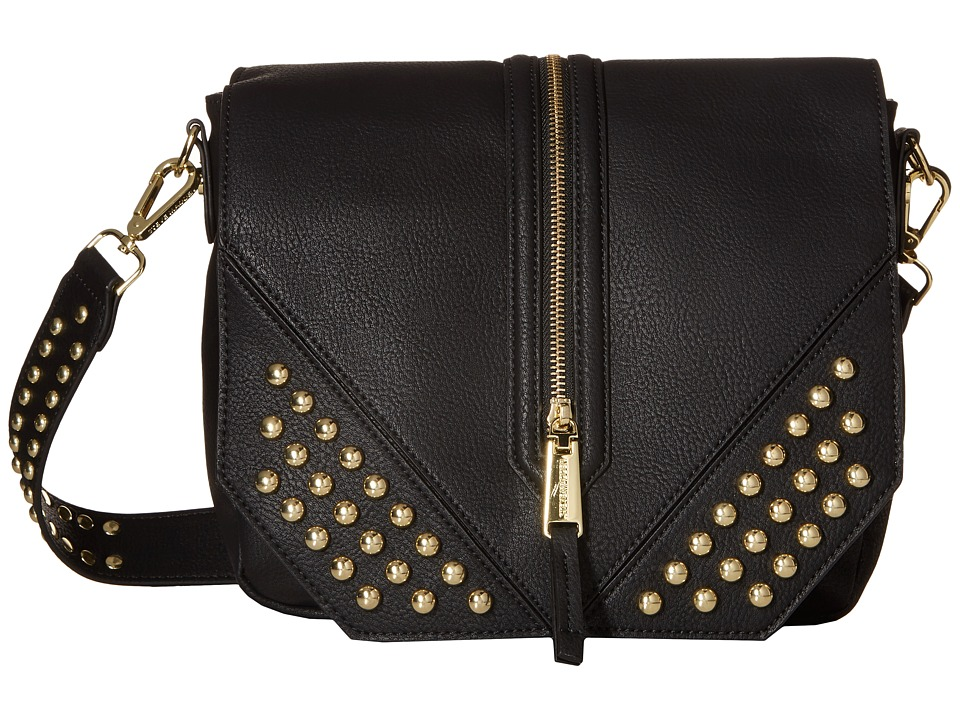 Steve Madden - Blucky Studded Saddle Bag (Black) Bags