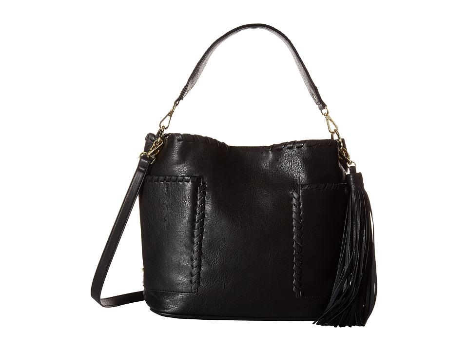 Steve Madden - Bfawnn Whipstitch Hobo (Black) Hobo Handbags