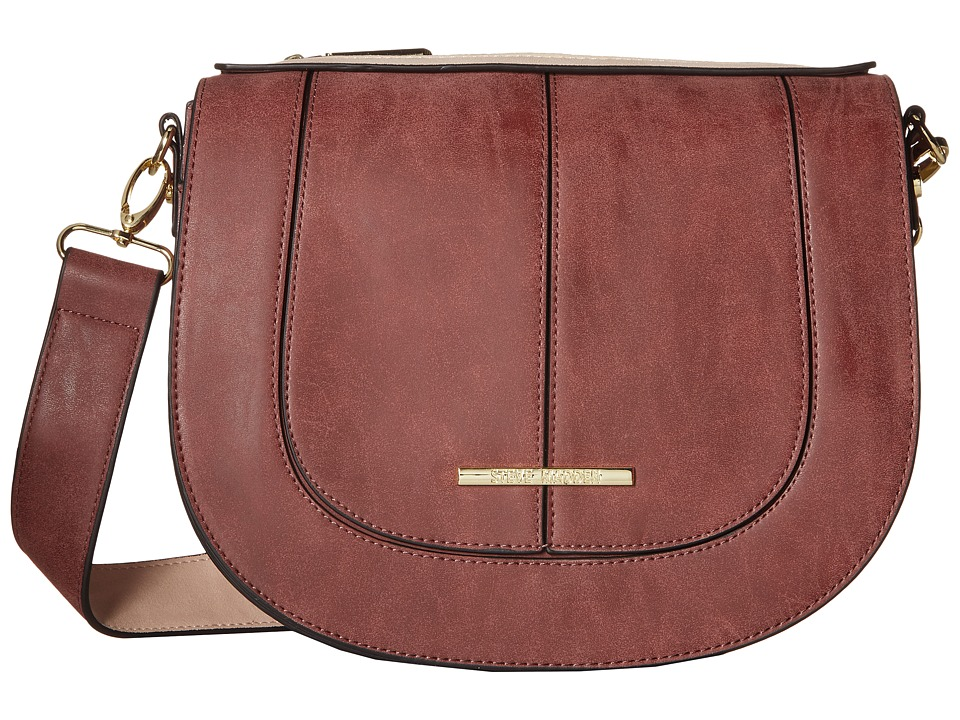 Steve Madden - Bdanner Top Flap Saddle Bag (Wine/Blush) Bags