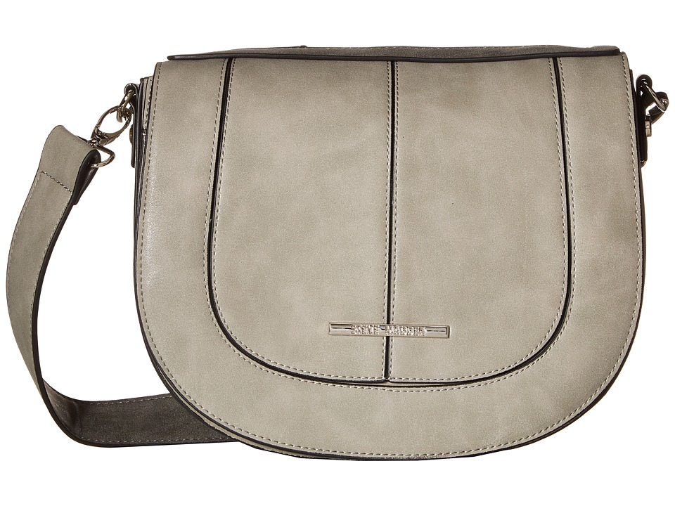Steve Madden - Bdanner Top Flap Saddle Bag (Grey/Slate) Bags