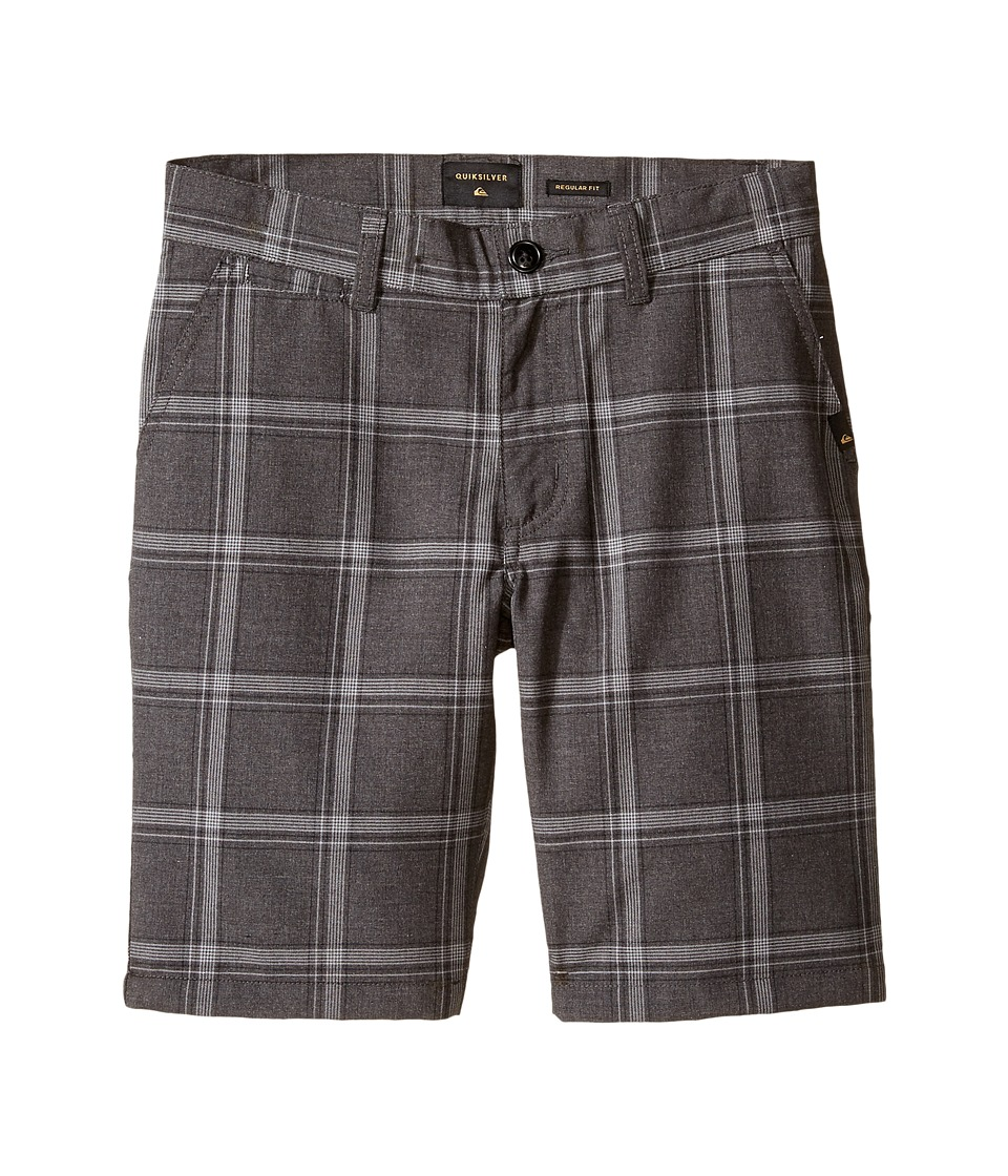 Quiksilver Kids - Regeneration Walkshorts (Big Kids) (Dark Grey Heather) Boy's Shorts