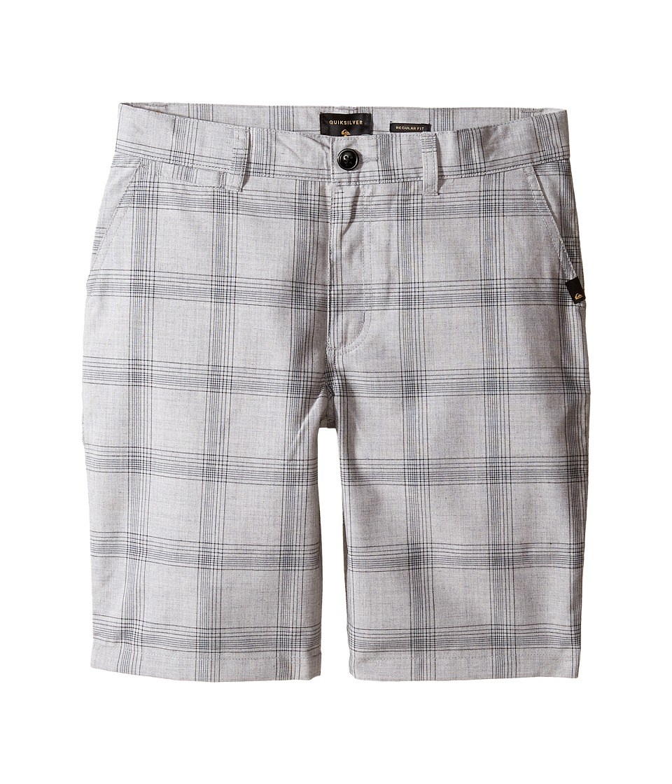 Quiksilver Kids - Regeneration Walkshorts (Big Kids) (Light Grey Heather) Boy's Shorts