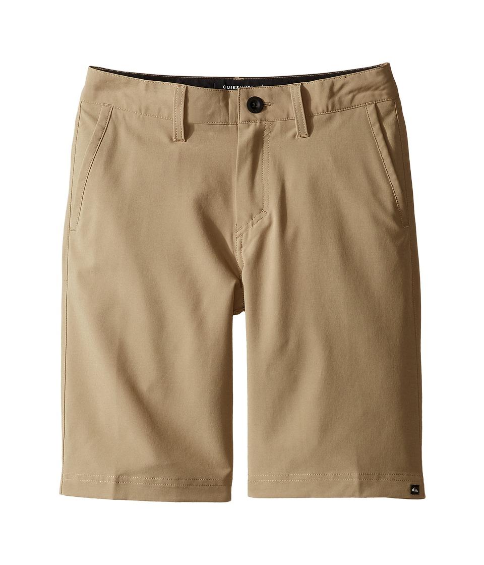 Quiksilver Kids - Solid Amphibian 19 Walkshorts (Big Kids) (Elmwood) Boy's Shorts