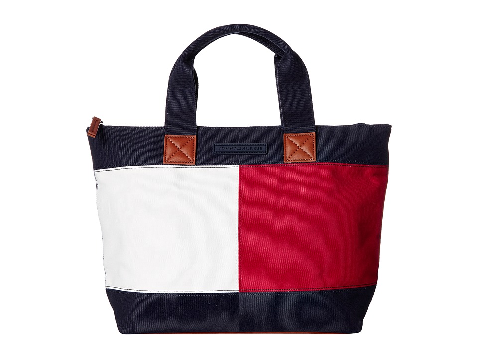 Tommy Hilfiger - Flag Color Block Shopper Canvas (Tommy Navy) Handbags