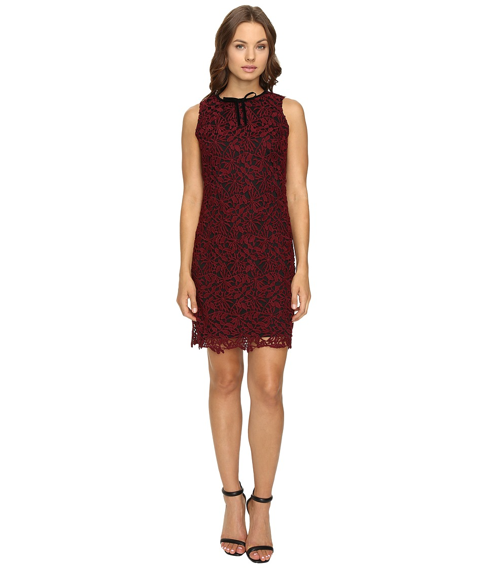Taylor - Lace Sheath Dress (Wine) Women's Dress