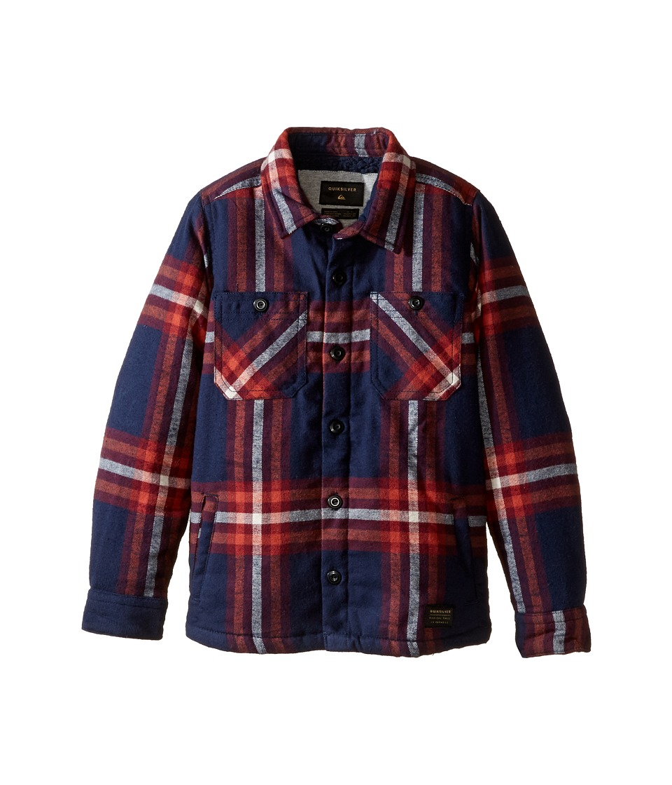 Quiksilver Kids - The Game Play Long Sleeve Woven Top (Toddler/Little Kids) (Game Play Navy) Boy's Clothing