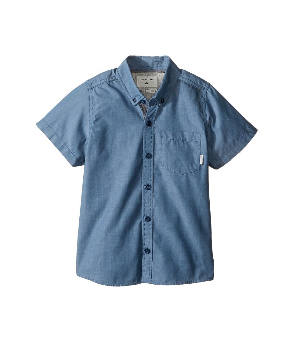 Quiksilver Kids - Everyday Wilsden Short Sleeve Woven Top (Toddler/Little Kids) (Captains Blue) Boy's Clothing