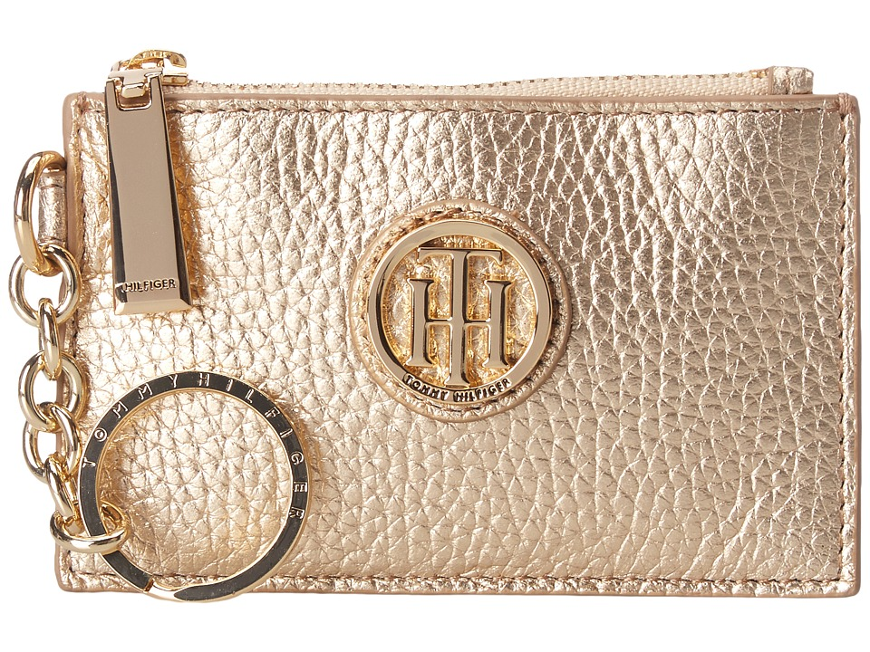 Tommy Hilfiger - Serif Signature Coin Purse w/ ID (Metallic Gold) Coin Purse