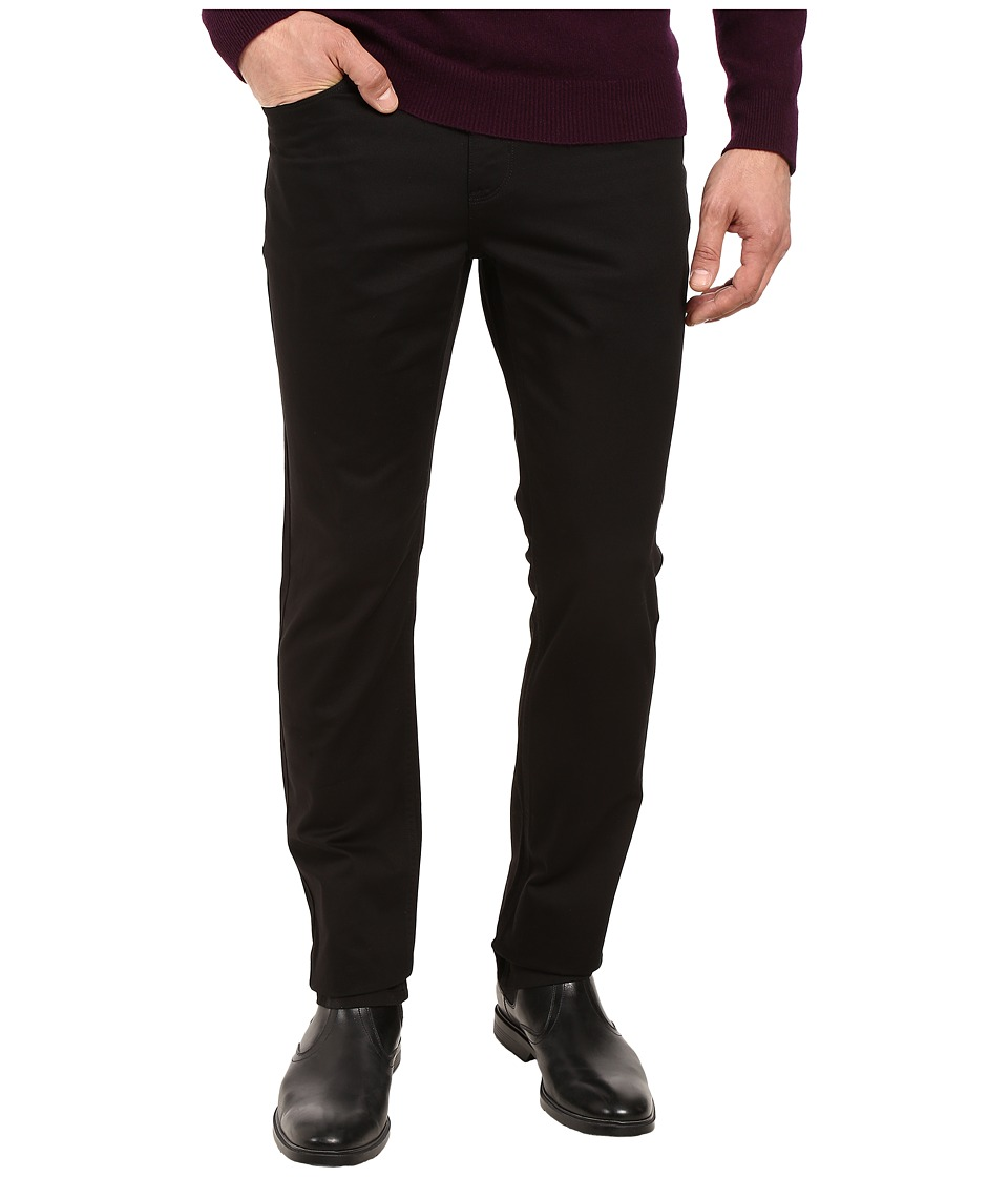 Perry Ellis - Slim Fit Five-Pocket Twill Pants (Black) Men's Casual Pants