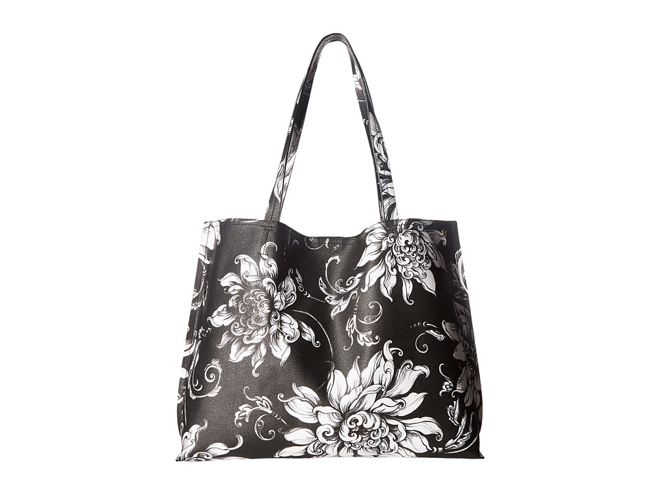 Elliott Lucca - Artisan Jules Tote (Black/White Wildflower) Tote Handbags
