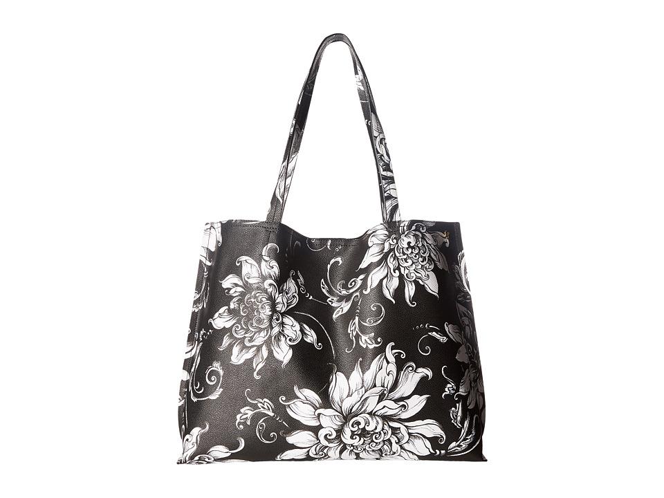 Elliott Lucca - Artisan Jules Tote (Black/White Wildflower) Tote Handbags