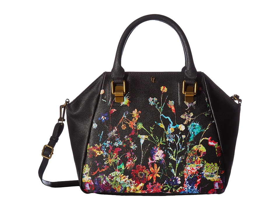 Elliott Lucca - Faro City Satchel (Black Botanica) Satchel Handbags