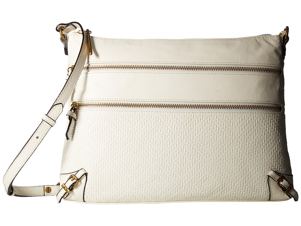 Elliott Lucca - Mari 3 Zip Crossbody (Creme) Cross Body Handbags