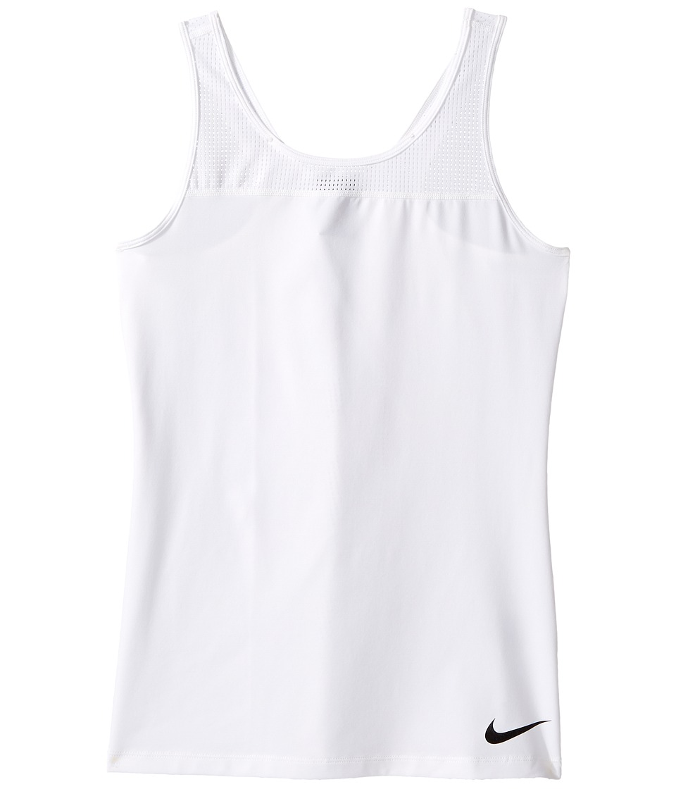 Nike Kids - Pro Hypercool Training Tank (Little Kids/Big Kids) (White/Black) Girl's Sleeveless