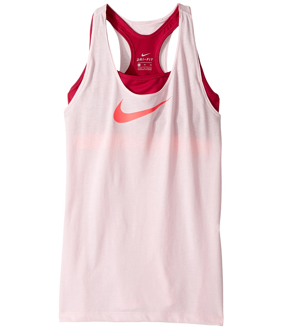Nike Kids - Breathe 2-in-1 Training Tank (Little Kids/Big Kids) (Prism Pink/Sport Fuchsia/Racer Pink) Girl's Sleeveless